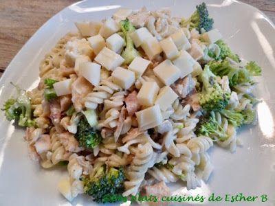 Les plats cuisinés de Esther B: Salade de pâtes au poulet à la ranch