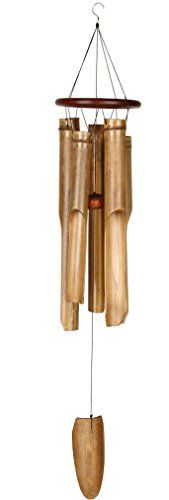 Woodstock Cocoa Ring Bamboo Wind Chime- Asli Arts Collection