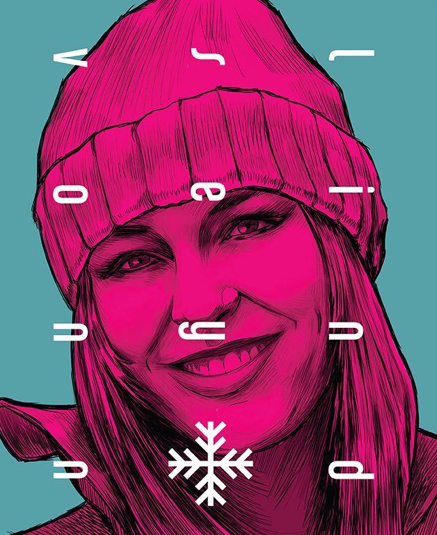 Lindsey Vonn. Die Illustration stammt aus dem Socrates Magazin.