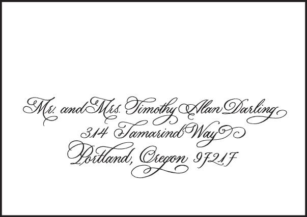 Letterpress Wedding Reply card envelopes | Victoria Calligraphy Design | Bella Figura Letterpress