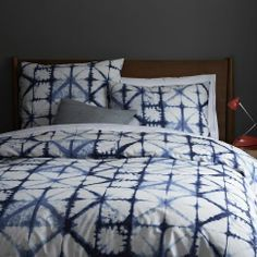 Beautiful tie-dyed bedding.