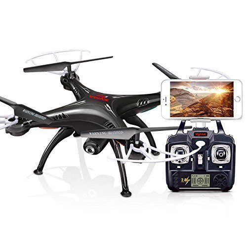 Syma X5SW-1 Mejorado Versión de X5SW Exploradores RTF Dron Aeroplano de Radio Control Flight UFO 2,4GHz 6 Eje 4 Canales 3D FPV RC Cuadricóptero con WIFI Cámara Modo 2 en tiempo Real Transmisión - Negro - http://www.midronepro.com/producto/syma-x5sw-1-mejorado-version-de-x5sw-exploradores-rtf-dron-aeroplano-de-radio-control-flight-ufo-24ghz-6-eje-4-canales-3d-fpv-rc-cuadricoptero-con-wifi-camara-modo-2-en-tiempo-real-transmision-negr/