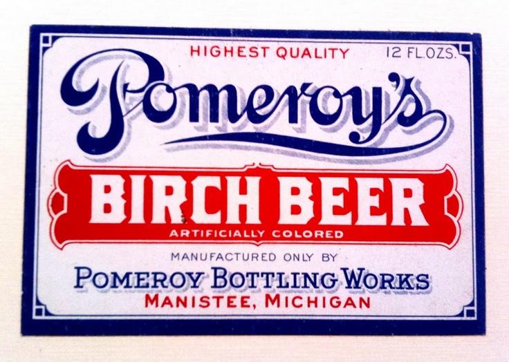 Pomeroy's Birch Beer label