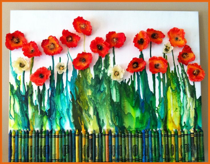 Melted Crayon Poppies | by Suzanne Tiedemann
