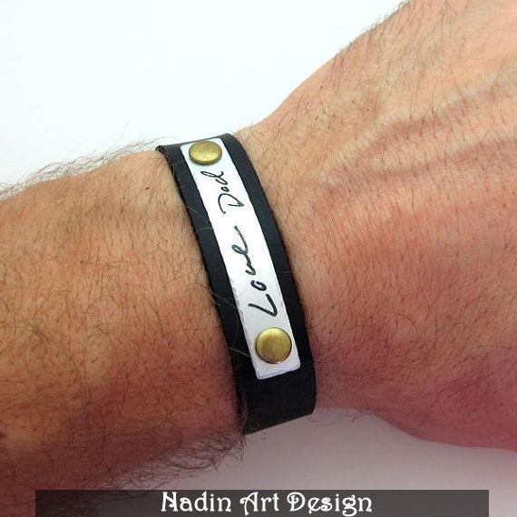 Handschrift Herren Armband / Geschenk für Mann von NadinArtDesign auf DaWanda.com