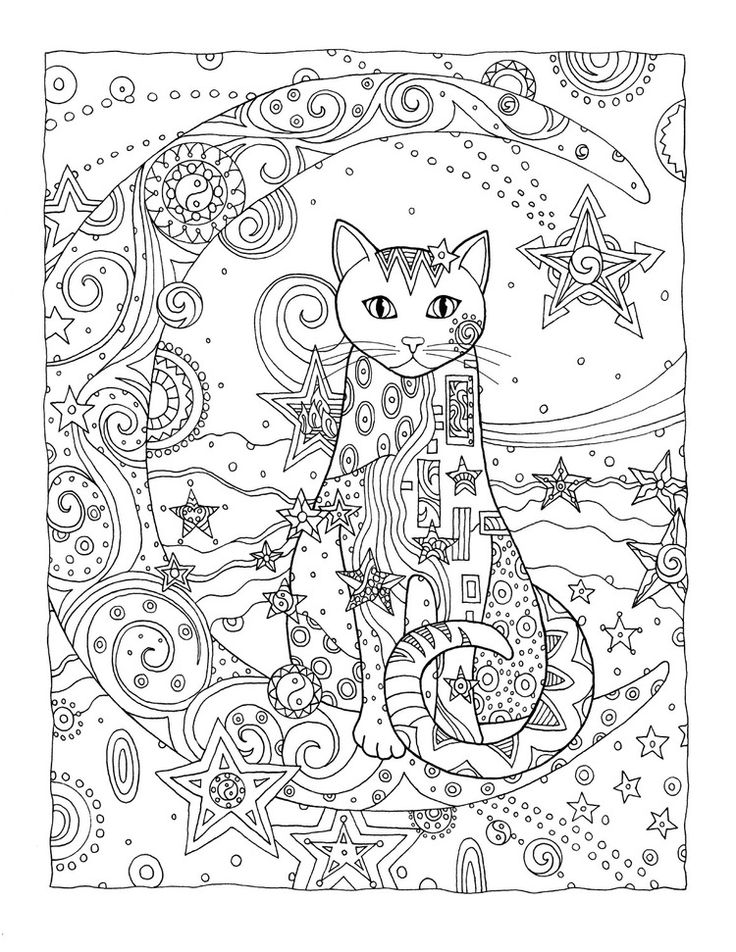 Cat Lovers And Colorists Are Enchanted With These Detailed Designs Where Each Is Arrayed In A Field Of Flowers Paisleys Stars More An