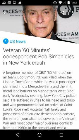 Yahoo News Digest Screenshots