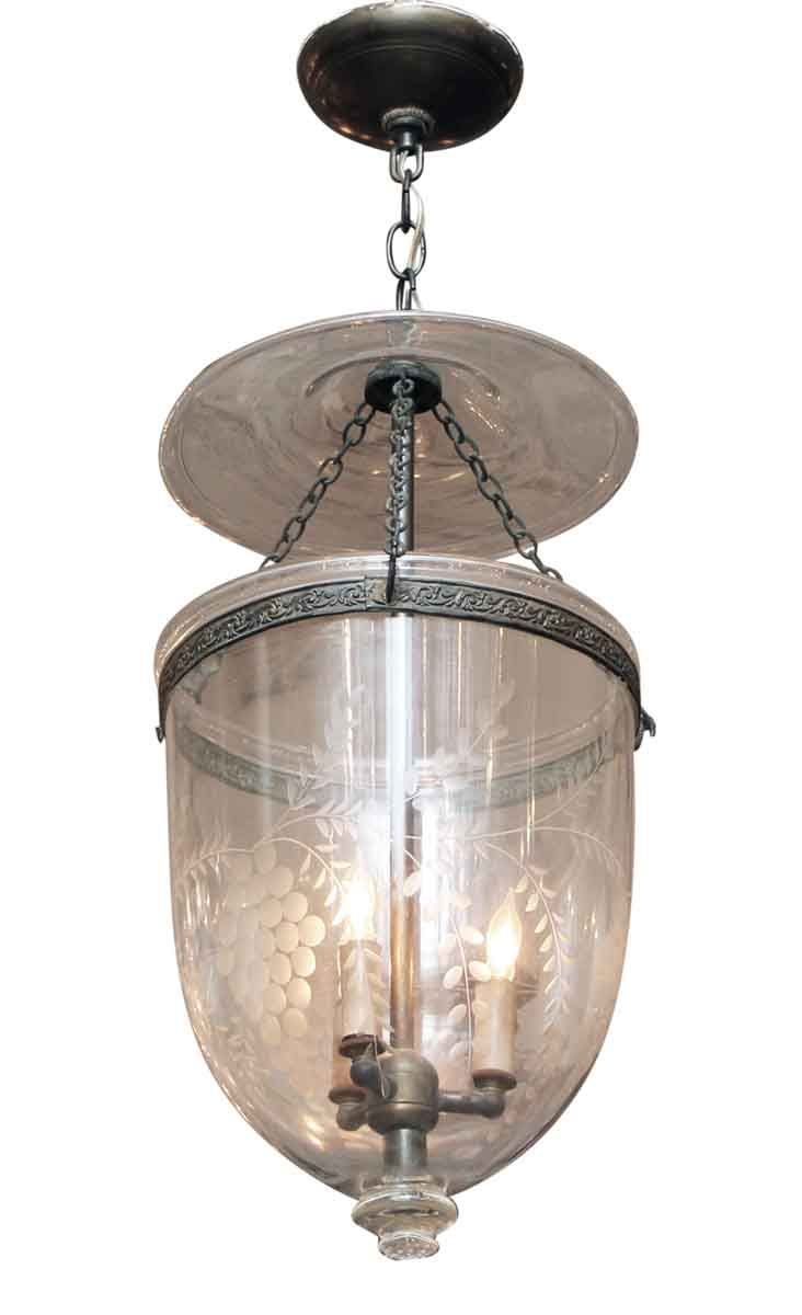 etched clear glass bell jar pendant light ideas for the house