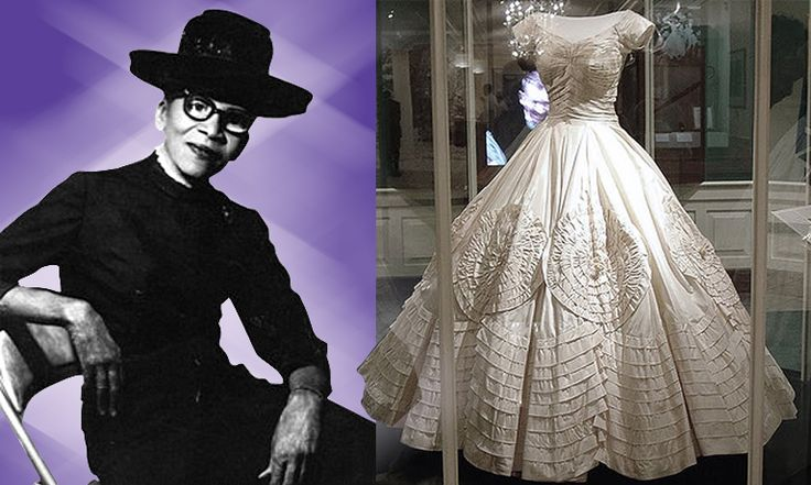Ann Cole Lowe (1898—1981) was the earliest African American designer to become part of the New York fashion establishment in 1950. She is best known for designing Jacqueline Kennedy's wedding dress. Ann never repeated a design — every dress was an original. Read her story here: http://thefemme-menace.tumblr.com/post/25360496425/anne-lowe