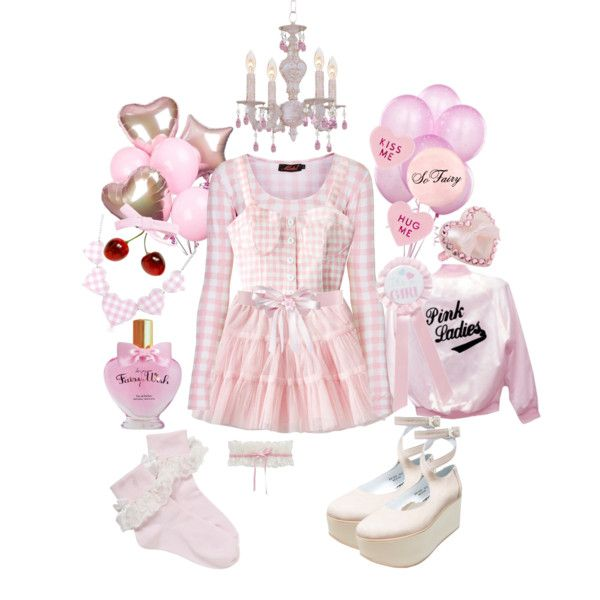 Pink Party by misamys on Polyvore featuring Motel, Trasparenze, Betsey Johnson, Tarina Tarantino and Old Navy
