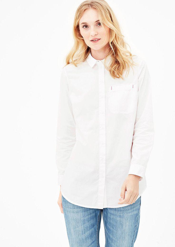 Schlichte Hemdbluse aus Baumwolle kaufen | s.Oliver Shop