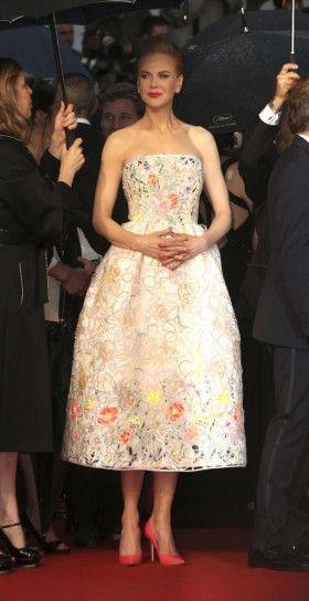 Nicole Kidman con abito da sera Christian Dior Cannes 2013