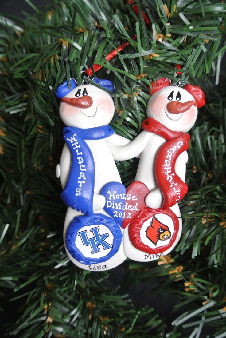 Auburn christmas ornaments - Personalized Custom House Divided Snowman Ornament You Pick The Teams 15 00 Via