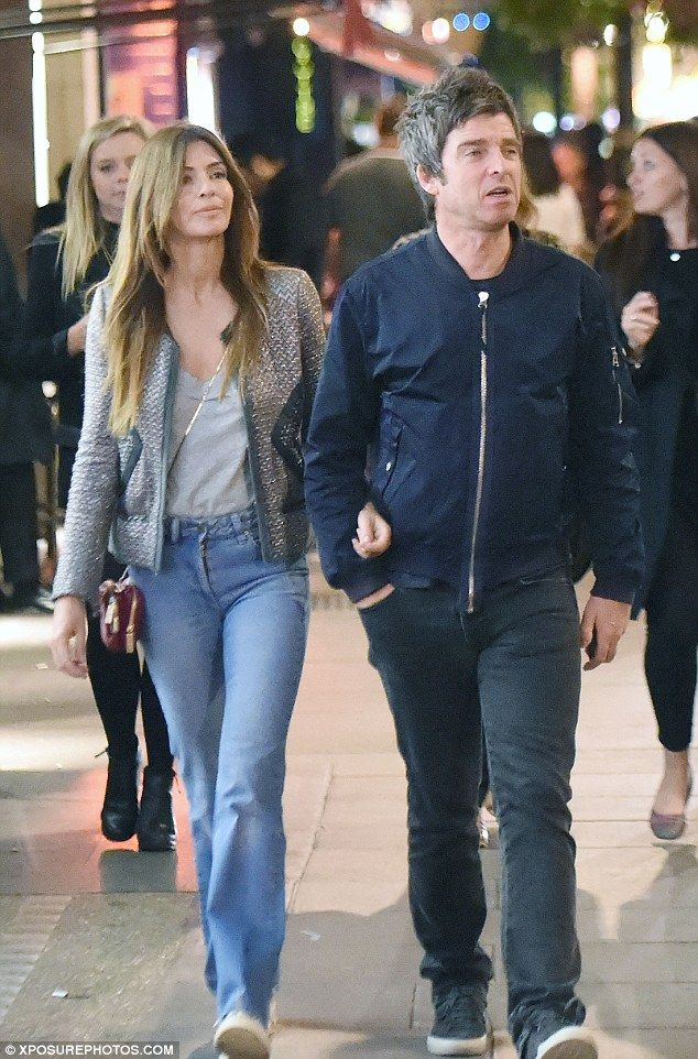 Night on the town:Noel Gallagher and his wife Sara MacDonald were taking a walk around ce...