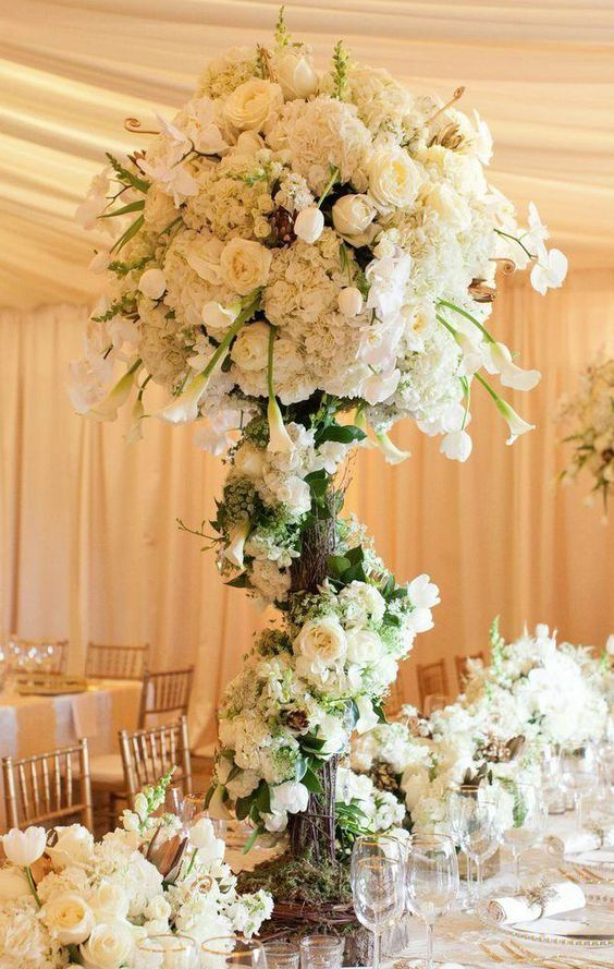 Wedding Reception Inspiration722 best Centerpieces   In White images on Pinterest   Marriage  . Flower Centerpieces For Wedding Reception. Home Design Ideas