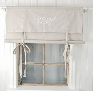 Shabby chic curtain! Trying to figure out what curtains I want to try to make for my living room with my limited sewing skills. Thinking even this is too complicated.