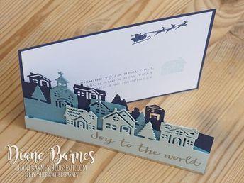 25 + › handgefertigte Weihnachtskarte aus der Dorfszene mit Stampin Up Hearts Come …