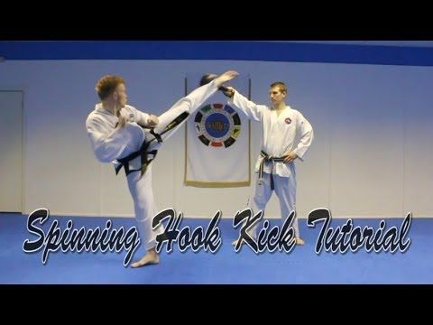 """""""How to Spinning Hook Kick Tutorial"""" Taekwondo Kickboxing """"Spinning Hook Kick"""" tutorial broken down and explained by me (Aaron Gassor), a 2nd Degree Black Be..."""