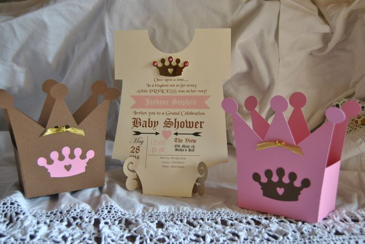 Boxes and invitation done for Baby SHower