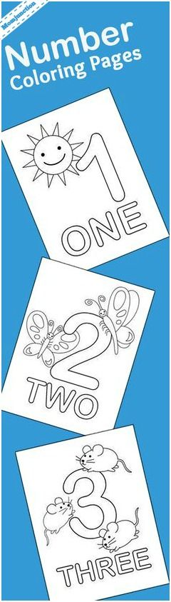 Number Coloring Pages for kids: This is a list of the top 21 number coloring sheets that you can use to introduce numbering as well as coloring to your kid.