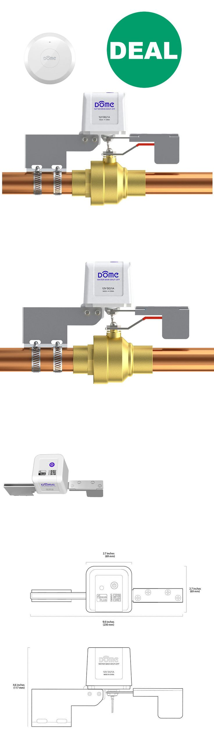 Home Automation Modules: Dome Z-Wave Plus Water Valve Shut-Off Dmwv1 And Leak Sensor Dmws1 Kit > Save $30 -> BUY IT NOW ONLY: $119.99 on eBay!