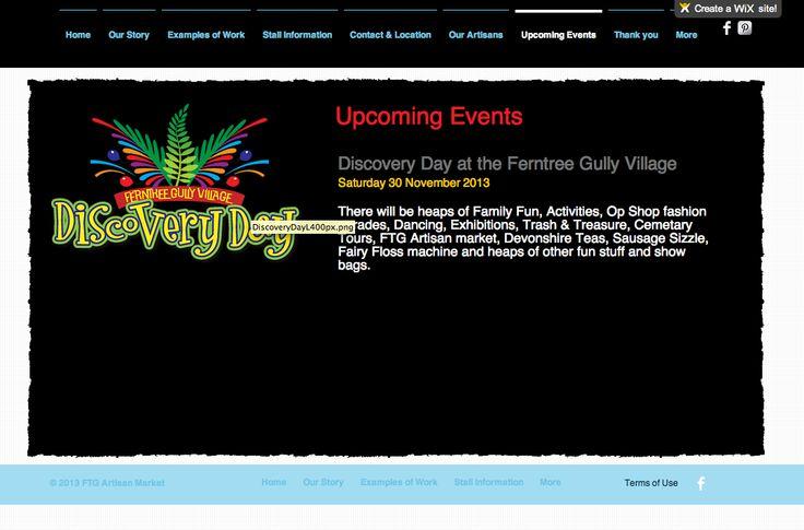 http://de6840.wix.com/ftgartisan Events page of our website by Debbi Douglas 2013