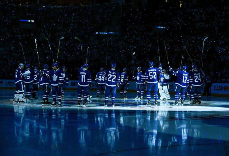 OCTOBER 15: Opening ceremony for the Toronto Maple Leafs 100th season at the Air Canada Centre on October 15, 2016 in Toronto, Ontario, Canada