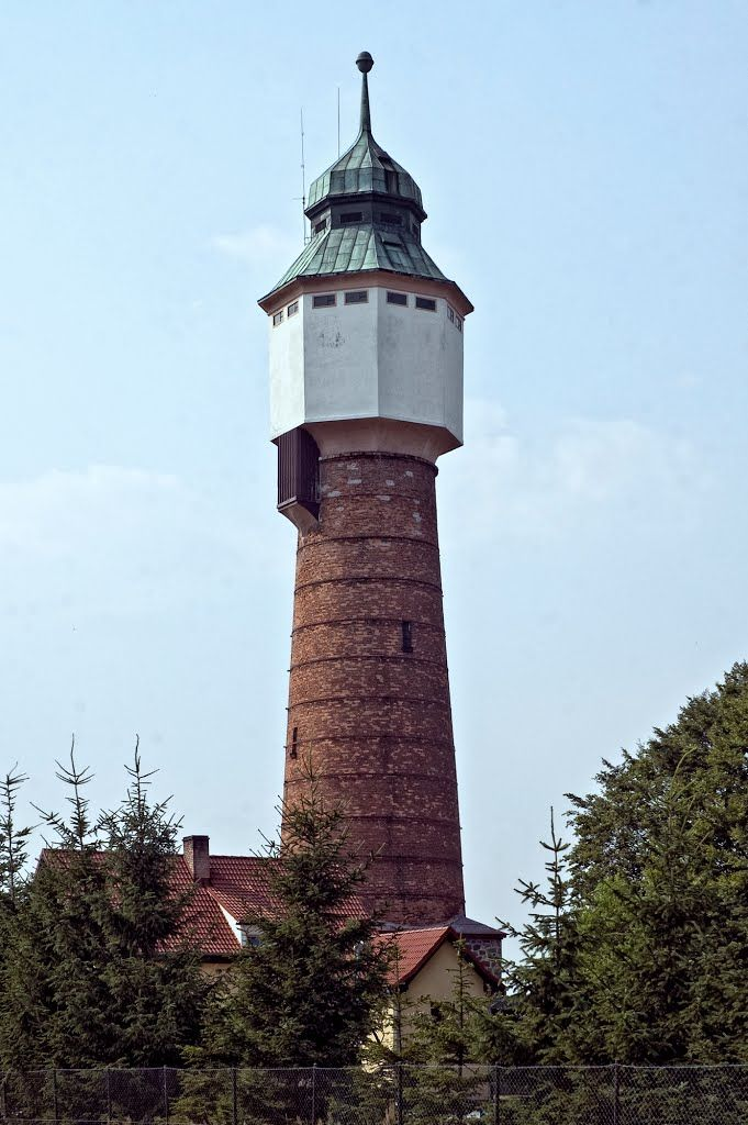 Wodociągowa wieża ciśnień w Złotowie, wybudowana w 1912 roku.
