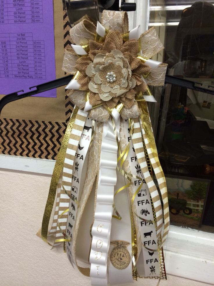 Texas FFA Burlap homecoming mum... Made this for our FFA  homecoming duchess