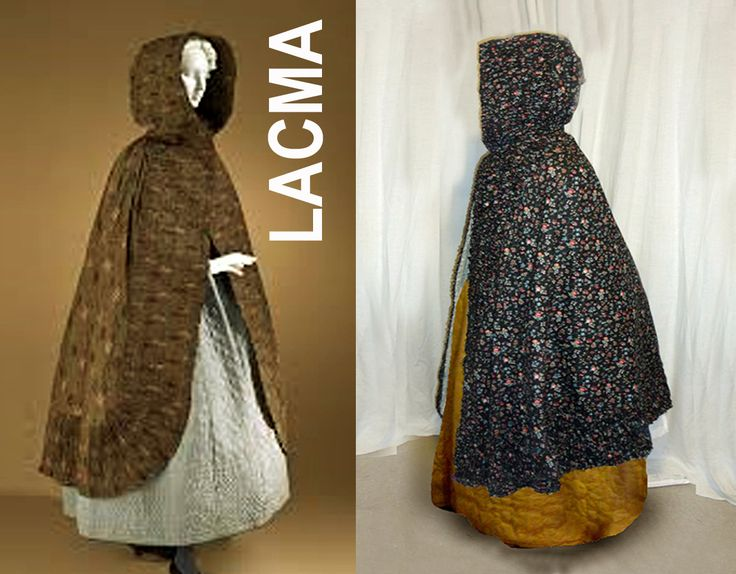 """These were made in dark green, grey, and red, but brown and black were the most popular. And because of their darker 'sooty' hues, these fabrics were termed """"ramoneur"""" (the chimney sweep). Printed on both cotton and linen, they were used in women's clothing of all types, from outerwear to dresses and American shortgowns."""