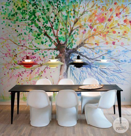 17 mejores ideas sobre rboles pintados en pinterest - Papeles pintados paisajes ...