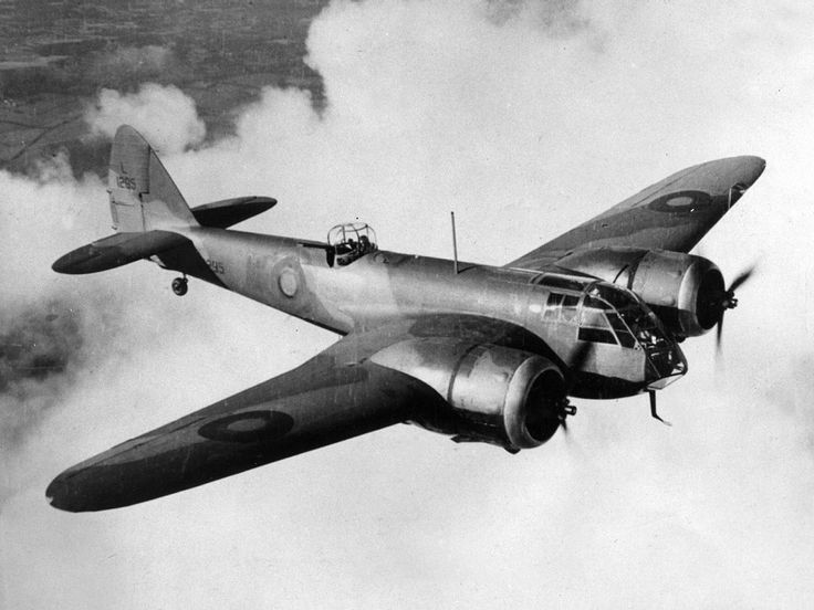 Bristol Blenheim aircraft. T's dad was navigator, flying these with RAF against Rommel.