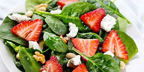 From berries to crumbled feta cheese, this salad is a kaleidoscope of bold flavours and compelling textures