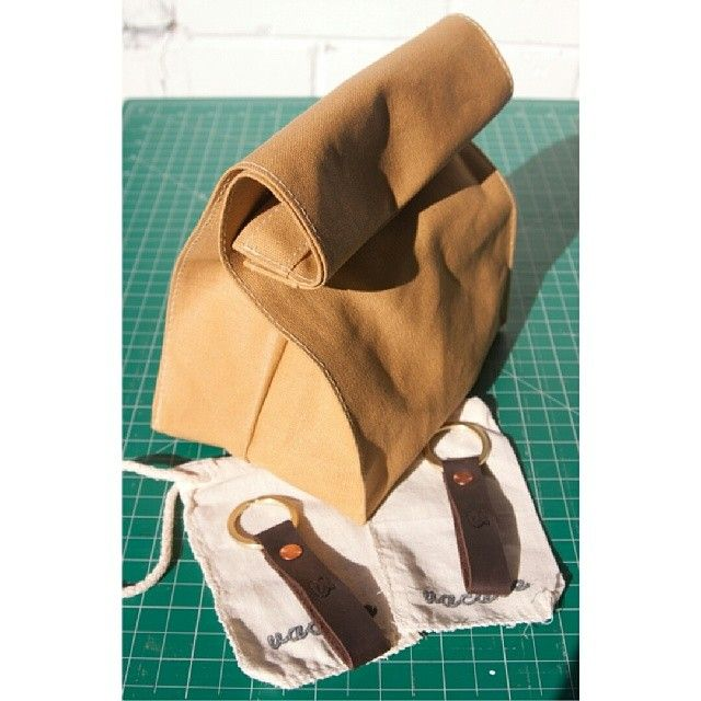 Lunch bag and key fobs. www.vacatecarry.com