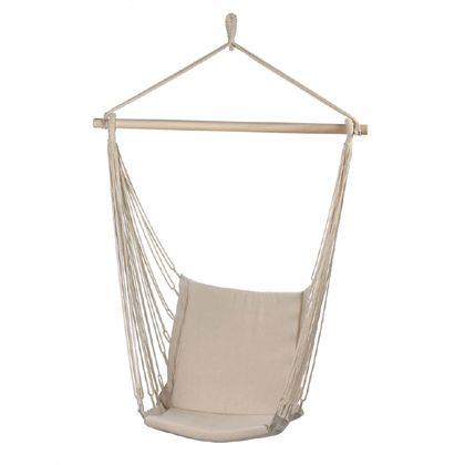 Having a swing like this in your backyard would be way nicer. It looks more stable then a hammock and it looks more comfortable too. Which what you want in a swing like this one.