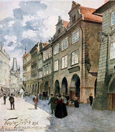 Ulice K Mostu de Vaclav Jansa (1859-1913, Czech Republic)