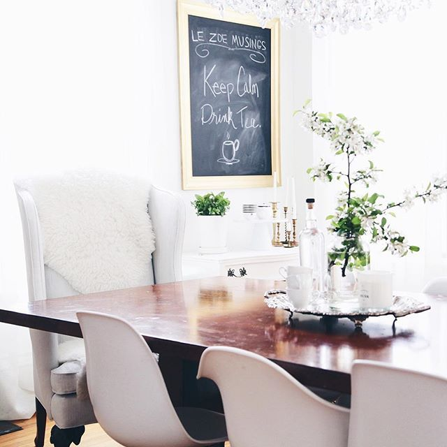DIY Painted Wing Back Chairs