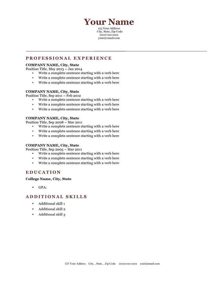 25 best Resume Genius Templates (Download) images on Pinterest