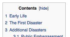 "don't worry, you're still in the ""early life"" part of your wikipedia page"
