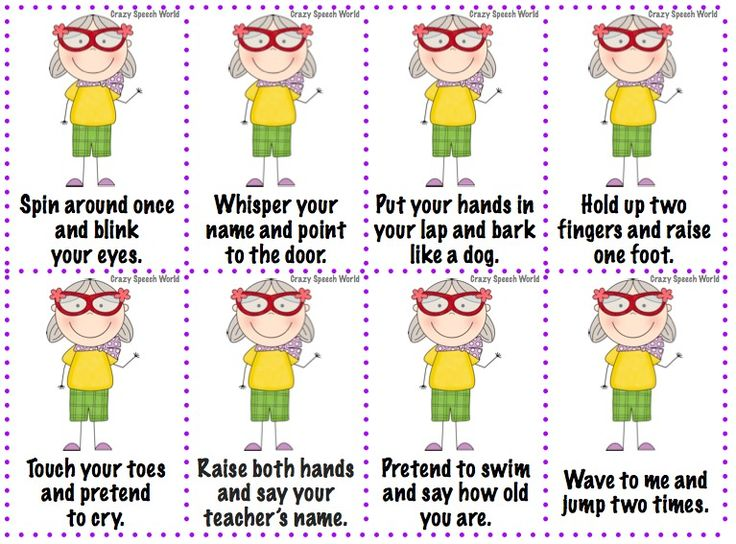 Speechie Freebies: Granny Says! Following 1, 2, 3 step and condition directions!