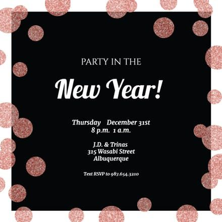 71 Best New Year S Eve Invitations Template Images On Pinterest