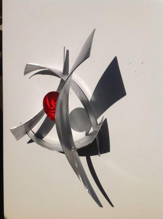 Metal Wall Art Sculpture Asian Contemporary Silver от onlyart76