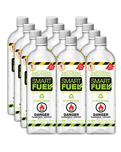 Anywhere Fireplaces 12pc Smart Fuel Liquid Bio Ethanol For