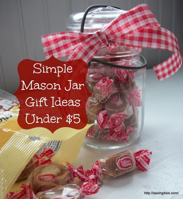 Simple Mason Jar Gifts Under | Saving 4 Six