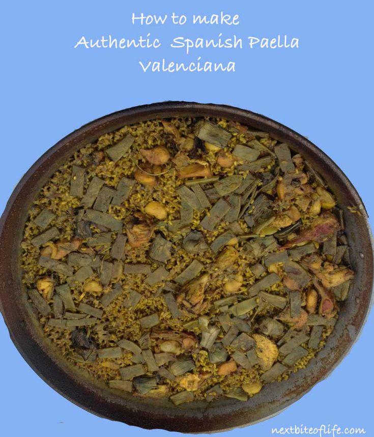 Authentic paella Valenciana. How to make this traditional Valencia staple with rabbit and chicken. Recipe and images to aid preparation. #paella #recipe #food