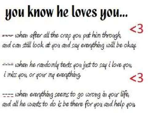 Does You Love Her Know That How He