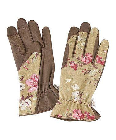 Victorian Rose Leather Gardening Gloves - Adult by Angela's Garden