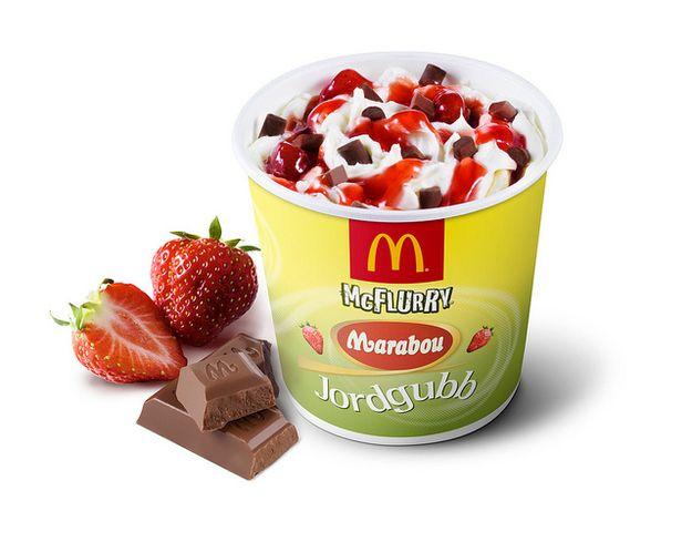 Marabou Jordgubb - Sweden   28 Unusual And Wonderful International McFlurry Flavors