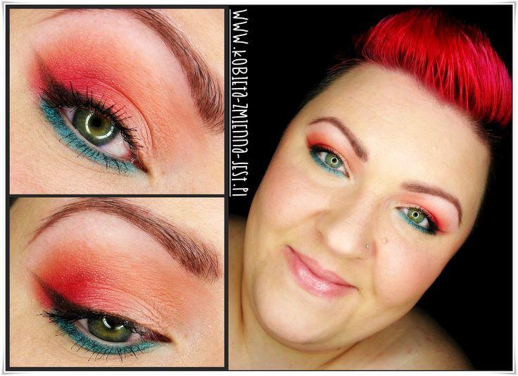 makijaż makeup sleek paraguaya sleek jewels sleek good girl zachód słońca sun rise lazur pomarańcz czerwień red orange blue colorfull makeupblogger blog