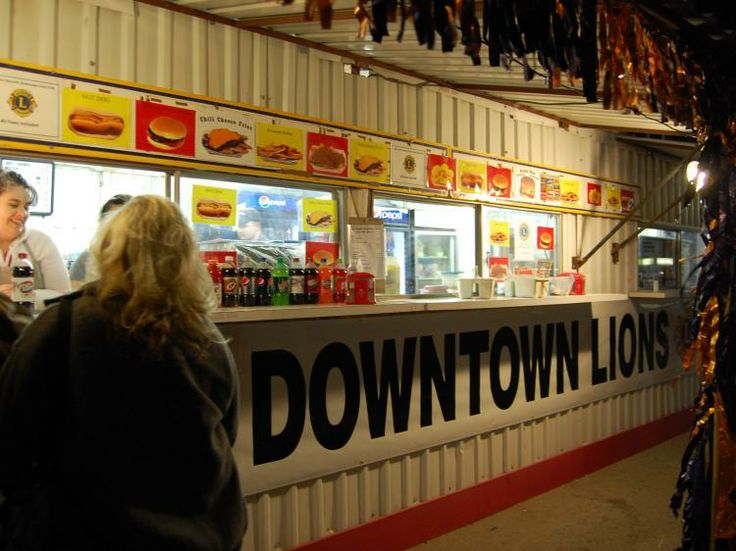 The Downtown Lion's Club has two snack bars set up at the rodeo this year and will donate all proceeds to charities. (LIVE! Photo by Ch...